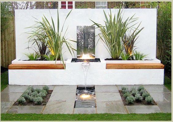 Como decorar el jardin con fuentes como decorar el - Como decorar el jardin ...