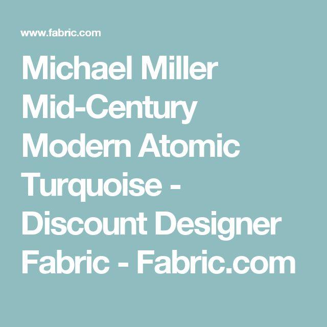 Michael Miller Mid-Century Modern Atomic Turquoise - Discount Designer Fabric -  Fabric.com