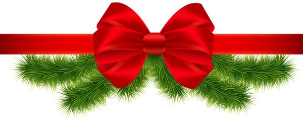 Christmas Red Ribbon PNG Clipart Image