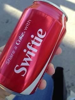 """""""Swiftie"""" is now on Coke cans! I need to find one! :D"""