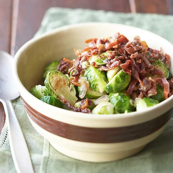 This Holiday Season With These Proscuitto Topped Brussels Sprouts