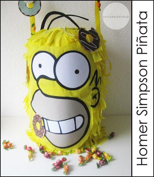 """Homer Simpson ♥ Donuts""  Geburtstags-Piñata basteln"