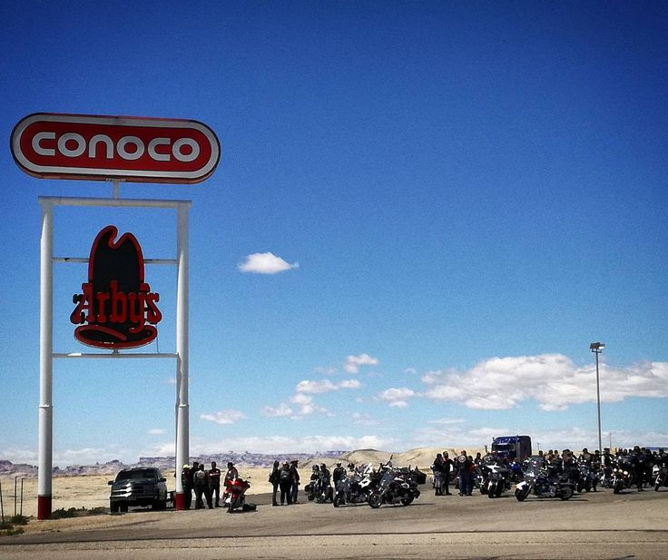 Bikers  on the road. Somewhere in Utah USA.