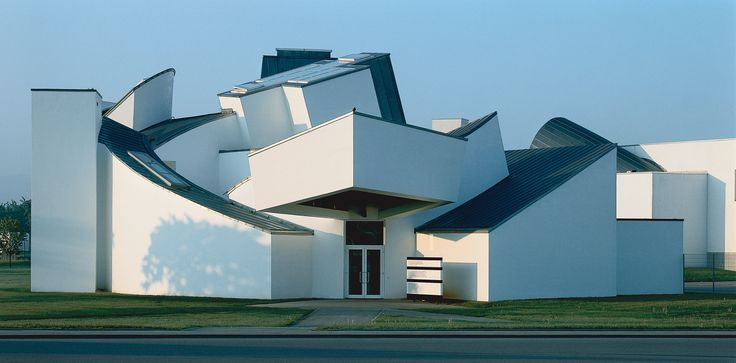 Frank Gehry's first commission in Europe, pictured here, was in Weil am Rhein, Germany, to house a design collection for a Swiss furniture manufacturer. The Vitra Design Museum opened in 1989 and has since become part of the larger Vitra Campus