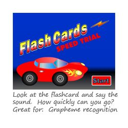 Flashcards Speed Trial Phase 5 phonics game