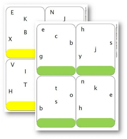 """MS, GS, CP, aide E - Apprentissage des lettres de l'alphabet - Jeu """"Batalettres"""" - Les docs d'Estelle"""