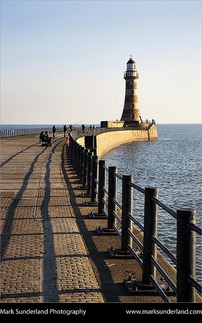 *Roker Pier and Lighthouse Sunderland England by Mark Sunderland
