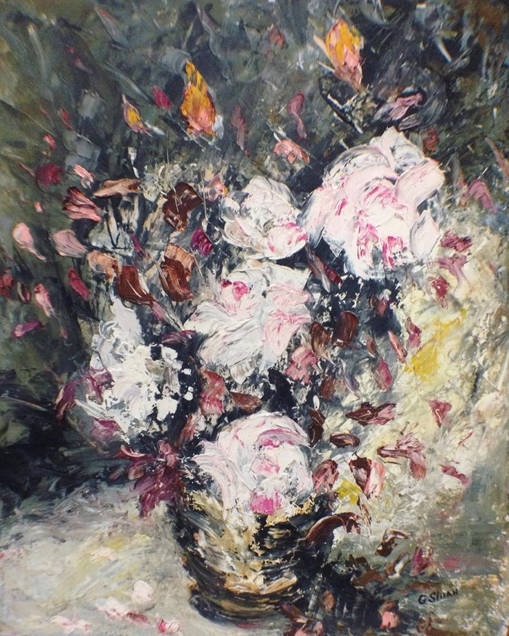 """PRICE DROP Gorgeous Impressionist Floral Still Life. Vintage Oil On Canvas. C. 1930. Signed """"G. Sloan"""". Beautifully Framed to boot! 23"""" x 28"""". For $ale. Was $380.00. On Sale for $330.00 until 10/29. Free Local Pickup/Delivery. Free Shipping. Purchase is easy. Simply DM me your email address and shipping address. I send invoice. You pay invoice. I pack and ship!"""