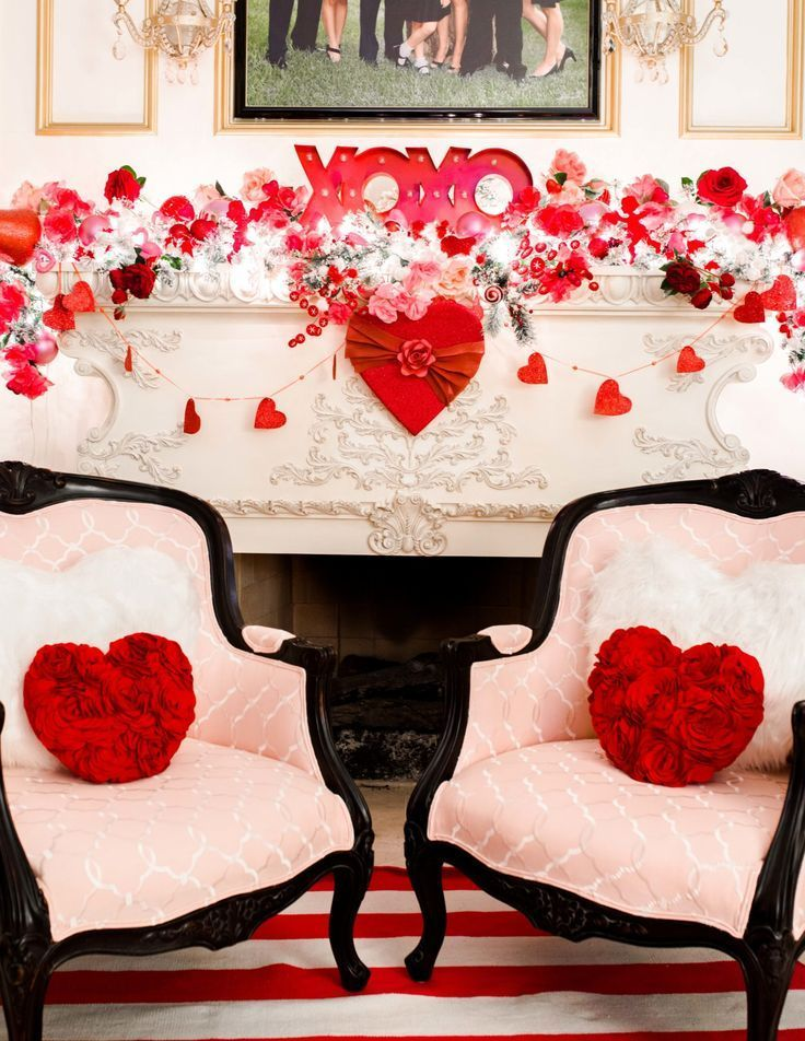 A Very Lovely Living Room Valentines 2019 Reveal In 2020 Diy Valentine S Day Decorations Valentines Day Decorations Fireplace Decor