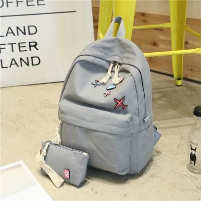 Ziweixing Canvas Solid Color Backpack Women Middle High School Bags For Teenagers Girls Bagpack Bookbags Sac A Mochila Backpacks