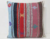 kilim pillow 24x24 pillow case euro pillow case euro sham cover large kilim rug kilim pouff 24x24 pillows 24x24 pillow cover pink red 22694