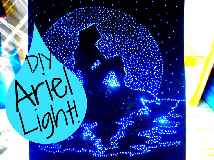 Diy The Little Mermaid Light Up Pinhole Art Room Decor