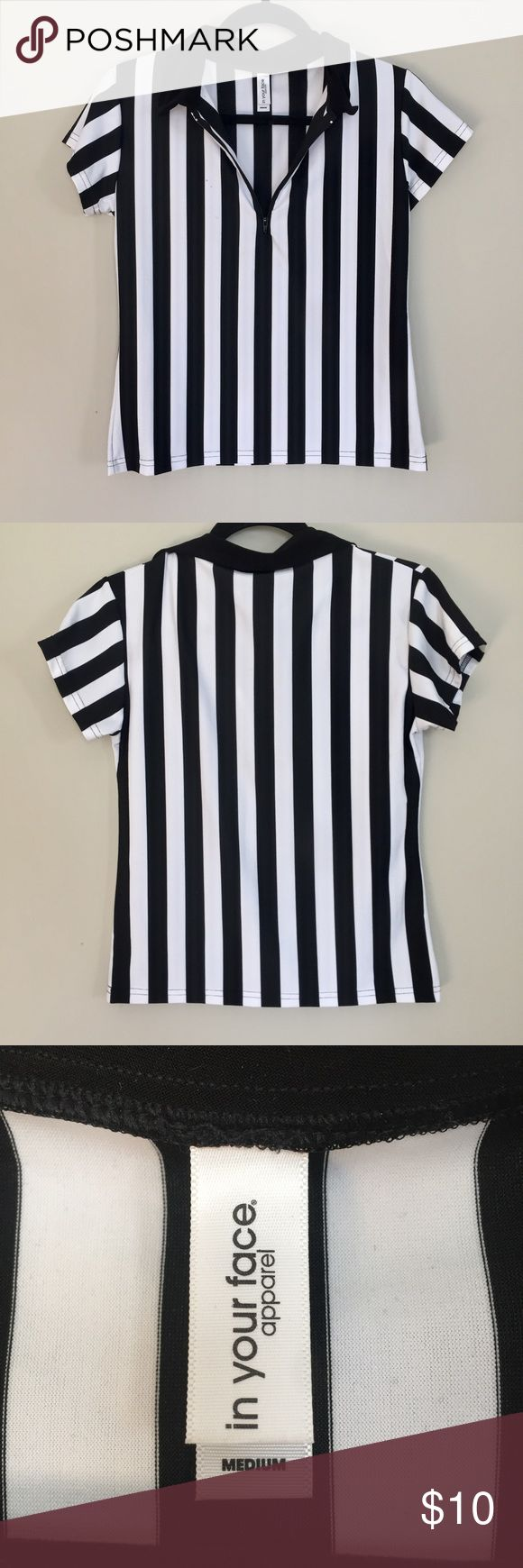 Referee shirt Referee shirt great for work or costume Tops