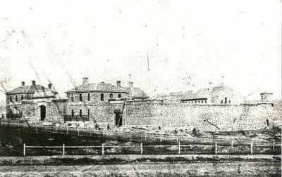 Ballarat Gaol in Victoria in 1861.