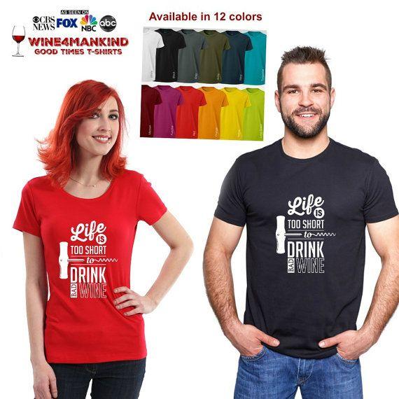 Funny wine tshirts drinking shirt-TSL01.Statement by Wine4Mankind