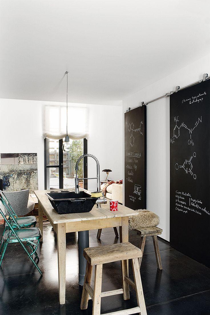 Idea: Make our sliding door in between kitchen and bedroom a chalkboard.