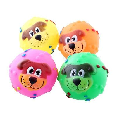 nice Hedgehog Pet Dog Puppy Squeaky Chew Toy Ball Funny Toys Play Rubber Colorful - For Sale