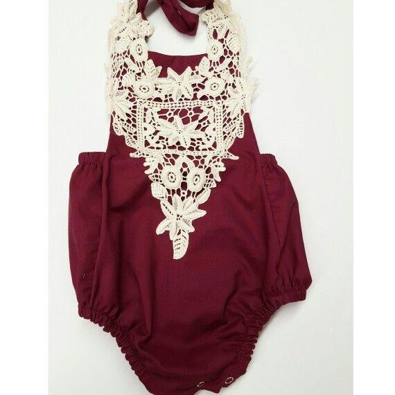 Reddies Craft romper. 100% handmade baby clothes