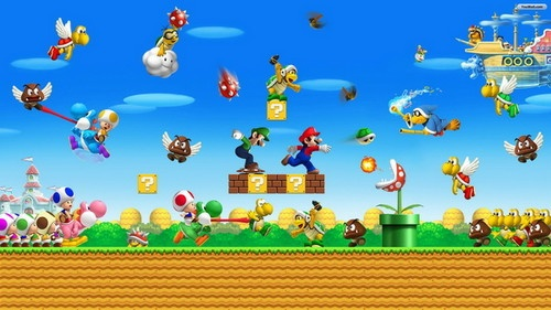Super Mario Bros -- popular since it launched in 1985, still a huge hit and one of the most popular games for kids to play (and collect merchandise)