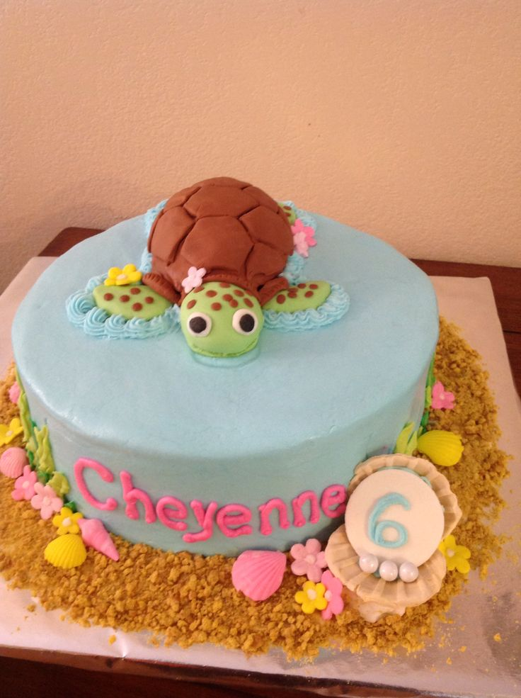 Squirt sea turtle cake
