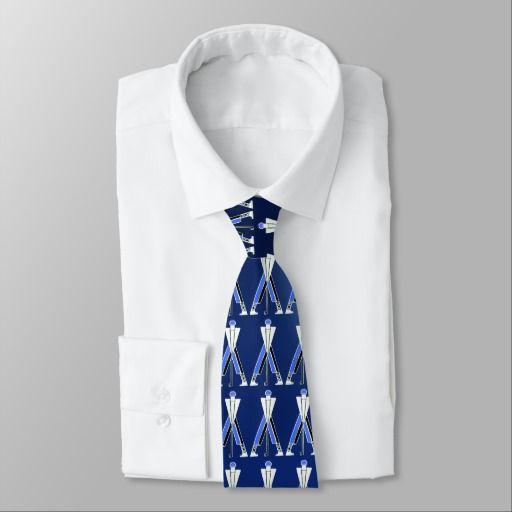 STYLIZED WHITE BLUE GOLFER ,GOLF PLAYERS NECK TIE #golf #golfplayer #golfer #sport #fashion #sports #golfers