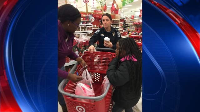 CMPD takes children Christmas shopping at local Target  CHARLOTTE, NC (FOX 46) - Officers with the Charlotte-Mecklenburg Police Department took almost 20 deserving children on a shopping spree at the Target in Midtown Saturday morning to help them buy Christmas gifts for their friends and family. CMPD has ... http://www.fox46charlotte.com/news/local-news/222899266-story