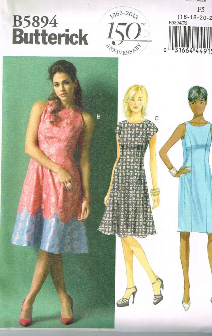 Butterick B5894, Misse' Dresses, Sizes 8, 10, 12, 14, 16, Sewing Pattern by OhSewWorthIt on Etsy