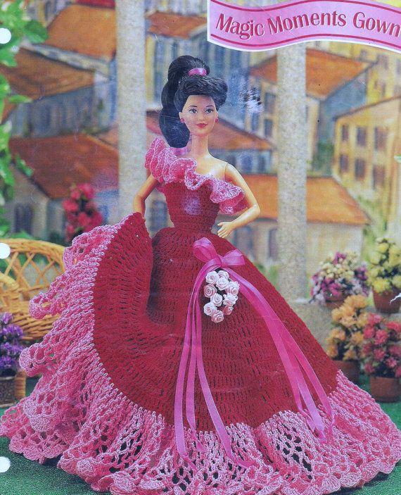 Crochet Dolls Hat Pattern : 17 Best ideas about Barbie Crochet Gown on Pinterest ...