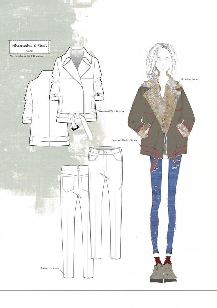 Fashion Sketchbook -- fashion illustration & flats; fashion portfolio // Emma Louise Williams