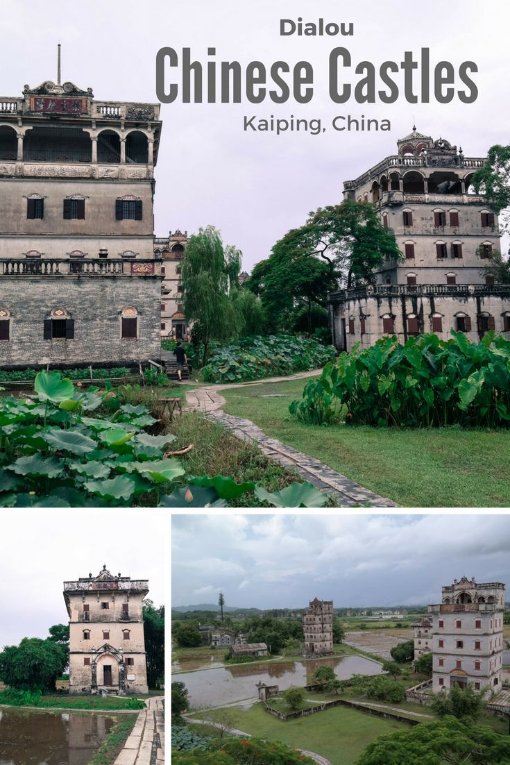 The Dialou castles are more than 1,800 centuries-old watchtowers that dot the rice fields around the city of Kaiping in the Guangdong Province.