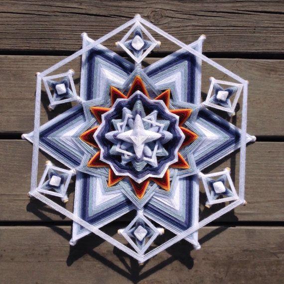 Nevado un Mandala de 18 pulgadas a un lado 12 por por JaysMandalas