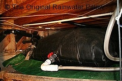 The Original Rainwater Pillow stored in a crawl space    This 1.200 gallon custom size Original Rainwater Pillow in stored in a home's crawl space. The collected water is used to water the home's landscape.    www.rainwaterpillow.comCustom Size, Originals Rainwater, Rainwater Pillows, 1 200 Gallon, Rainwater Harvest, Gallon Custom, Collection Water, Crawl Spaces, Pillows Stores