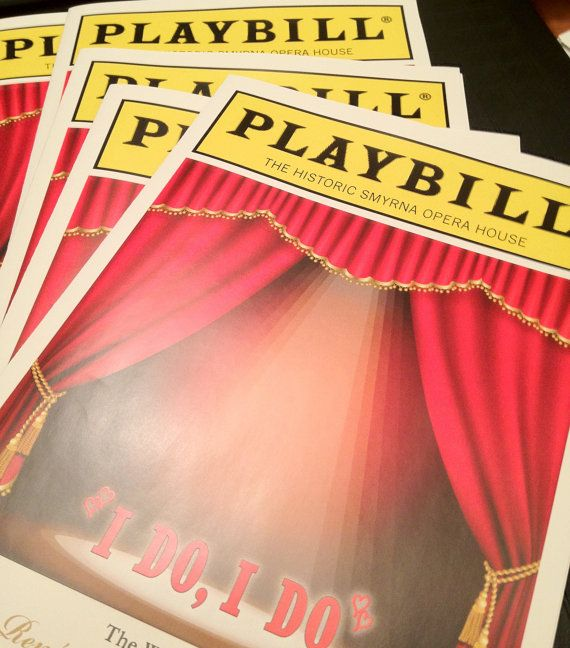 100 PLAYBILL theater programs for wedding, birthday or other special occasion DEPOSIT    Purchase the listing for me to begin the design of a spectacular