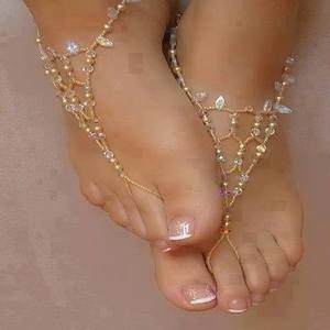Barefoot Sandals Pearl Pattern Jewelry - Simply Creative Products