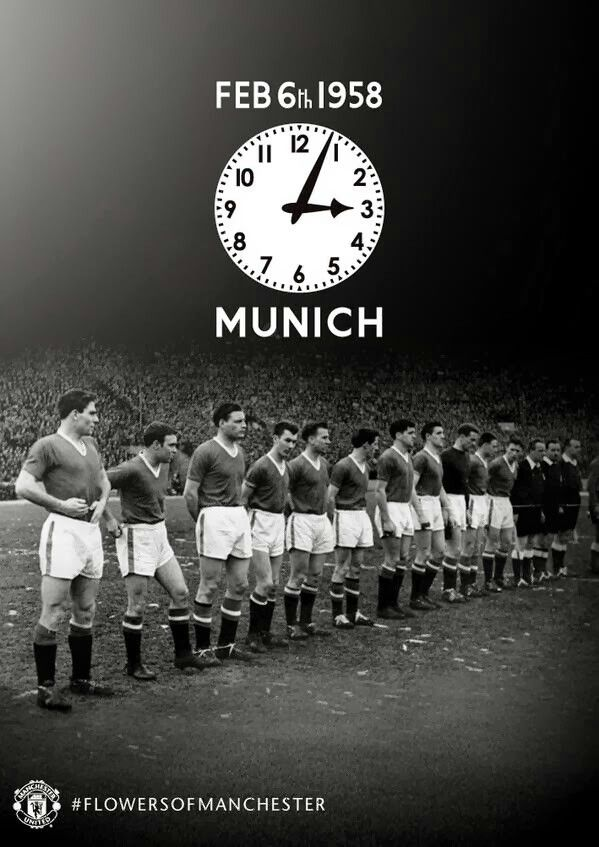 No Matter what Manchester United never die! Manchester United, Munich Air Disaster #WeWillNeverForget #BugsyBabes