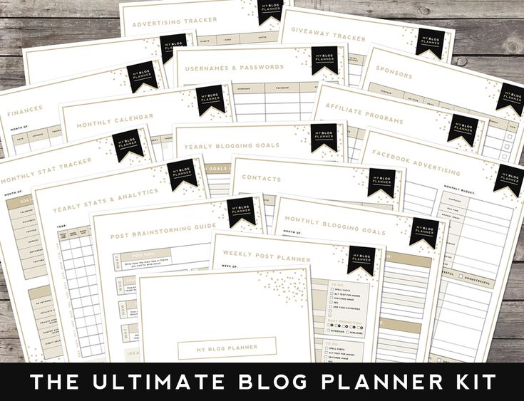 blog planner ideas
