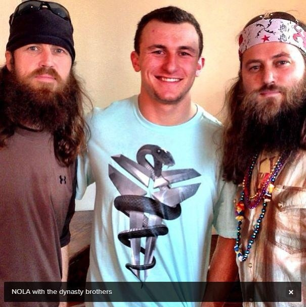 Johnny ManzielJohnny Football Texas A M With Jase And Willie