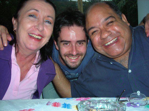 Con Rodrigo Arenas, nuestro amigo...