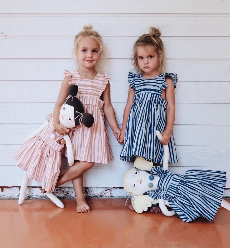 @kcstauffer twins! matching dolls and dresses from @wrenandjams and @merrileeliddiarshop
