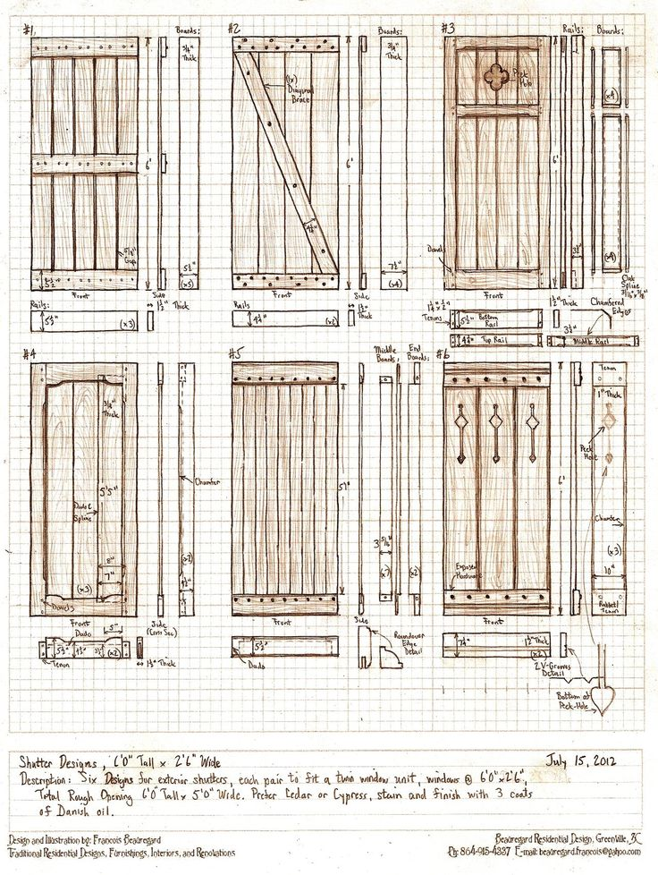 Six Exterior Shutter Designs Wood Screen Lattice Fence Style {.} ++ Lattice  Portion combined with blind flaps for privacy :)