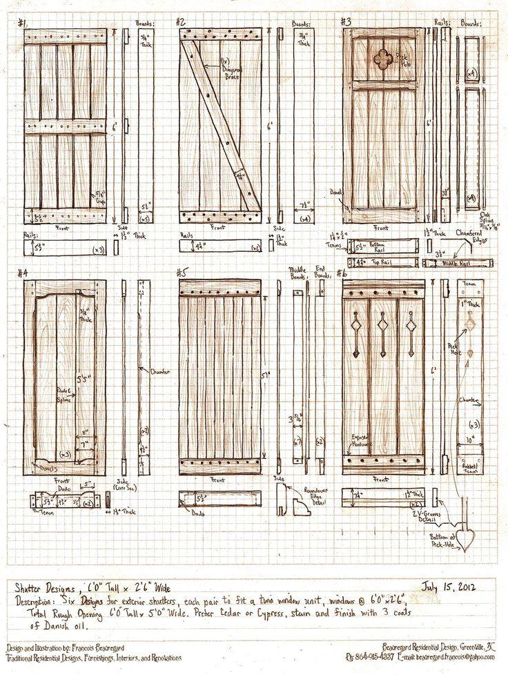 Six Exterior Shutter Designs by Built4ever on deviantART