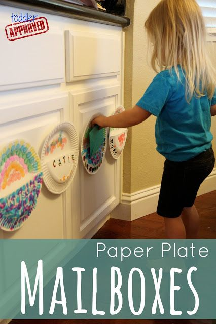 Toddler Approved!: Paper Plate Mailboxes