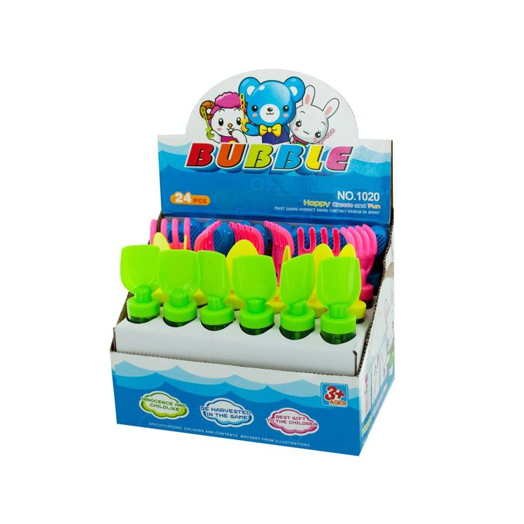 wholesaleSmall Sand Toy Bubble Maker Counter Top Display (Case of 24)