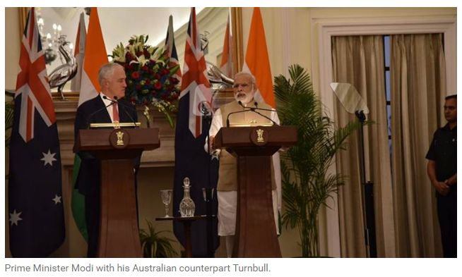 Australian PM Malcolm Turnbull is in India. Here are the LIVE updates of the joint press conference. Get Narendra Modi's & BJP's latest news and updates with - http://nm4.in/dnldapp http://www.narendramodi.in/downloadapp. Download Now.