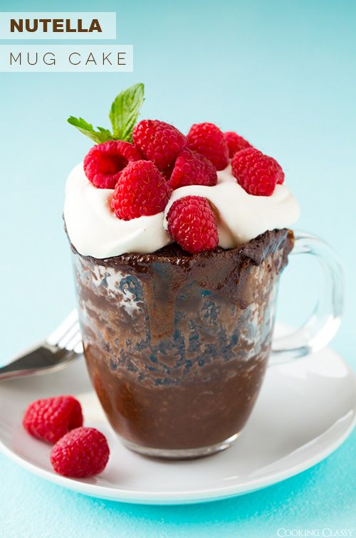 Nutella Mug Cake - This is my new favorite mug cake! Ready in under 5 minutes!