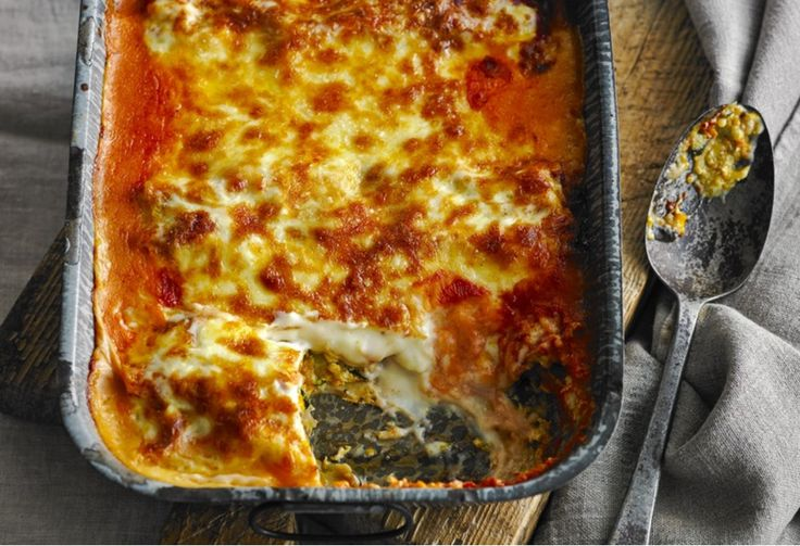Mamma mia! Rolled lasagne or giant cannelloni? We can't decide but, either way, it makes veg-ing out so in!