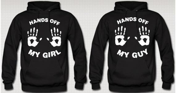 Hands Off My Girl -Hands Off My Guy Hoodies Love Couple Hoodie Valentine's Day Hoodie on Wanelo