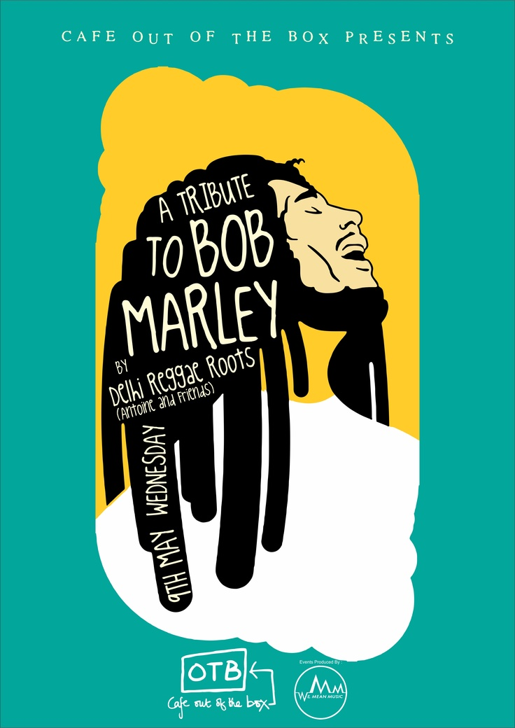 Poster I just finished making for a Bob Marley tribute gig.