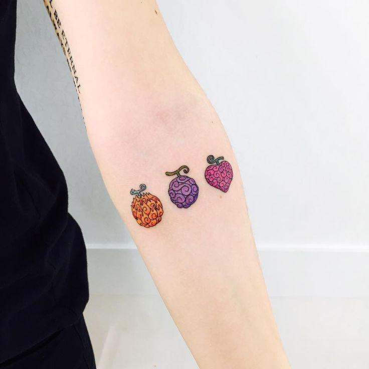 One Piece Tattoo Akuma no mi: Mera Mera no mi, Gomu Gomu no mi, Ope Ope no mi                                                                                                                                                                                 Más