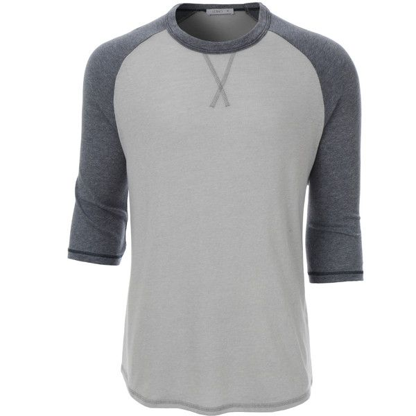 LE3NO PREMIUM Mens Vintage Ultra Soft 3/4 Raglan Sleeve Baseball Tee ($19) ❤ liked on Polyvore featuring men's fashion, men's clothing, men's shirts, men's t-shirts, mens t shirts, mens american flag shirt, mens three quarter sleeve shirts, mens color block shirt and men's vintage t shirts